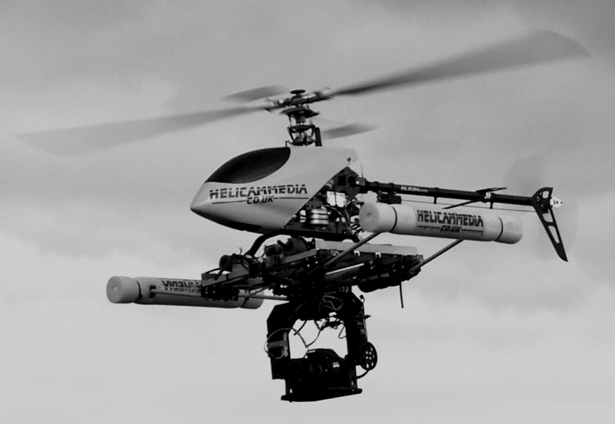 drones and helicopters for aerial filming and photography