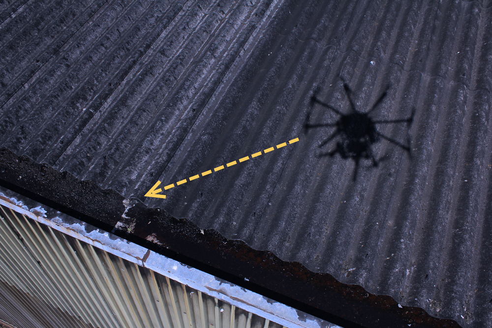 hire a drone for roof survey & inspections