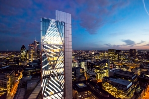 Principal place broadgate tower worshipstreet london aerial photography