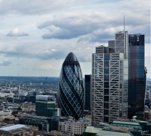 The gherkin st mary axe drone aerial photography company for architects london city