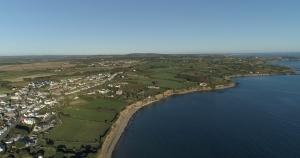 aerial photograph coastal seaside