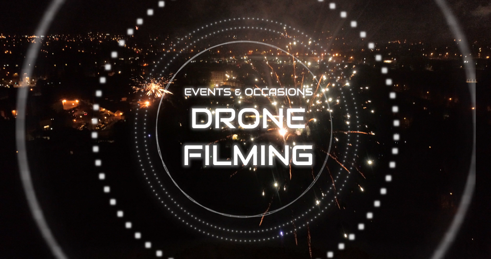 Events concerts weddings coverage aerial filming photography