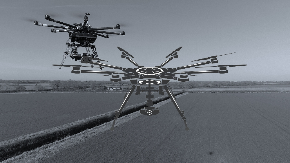 octocopter dslr heavy lift aerial filming photography drone