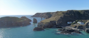 aerial photograph national trust keyance cove cornwall