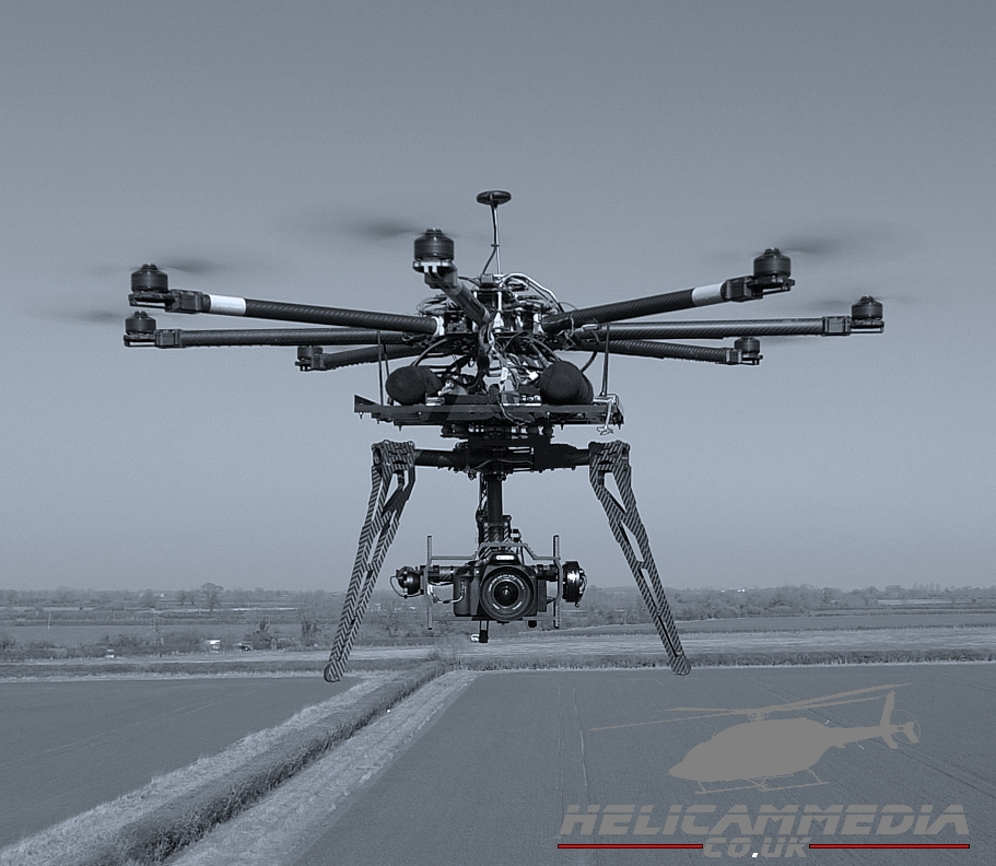 octocopter dslr heavy lift aerial drone filming photography film crane production filming jib